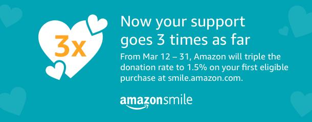 Amazon Smile Triple Donation